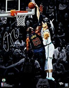 Jayson Tatum Boston Celtics Signed 16x20 Spotlight Photo Dunk on Lebron FANATICS