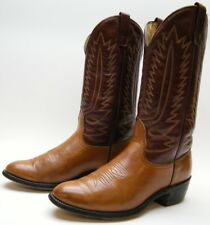 MENS VINTAGE MASON CHIPPEWA FALLS BROWN LEATHER COWBOY WESTERN BOOTS SZ 9 EE