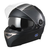 DOT Motorcycle Full Face Helmet Dual Visor Scooter Street Bike Touring Sports