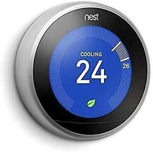 NEST PRO EDITION new Learning Programmable Thermostat SNOW + TRIM KIT NIB