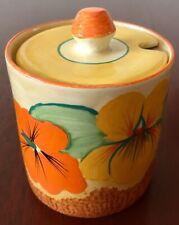 Clarice Cliff Bizarre Nasturtium Jam Honey Preserve Pot *EXC.COND.*