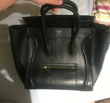 Celine Luggage Borsa Bag Pelle Leather Black