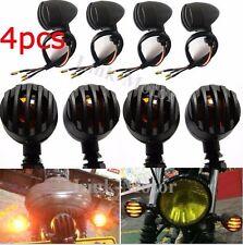4PCS Motorcycle Black NEW Turn Signals Blinker lights Indicator Bullet Universal