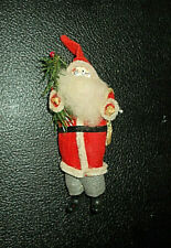 "Ant. German Old Belsnickle Santa Claus Felt~Composition~Paper Mache Face~6""H"