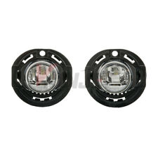 For Dodge Charger Jeep Grand Cherokee LED Clear Lens Chrome Housing Fog Lights