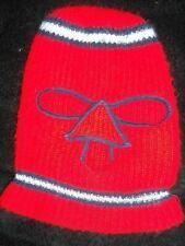 Vtg 70S 80S Mens Red Blue Multi Stripe Knit Ski Mask Winter Nose Patch Snow Hat