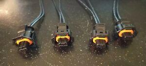 injector connectors x4 2 pin fits Trafic Vivaro renault Peugeot Vauxhall Saaab
