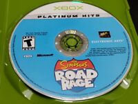 The Simpsons Road Rage-Platinum Hits (Microsoft Xbox, 2003) TESTED! DISC ONLY!