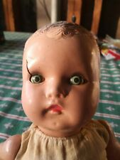 """Antique 1930 1940  Horsman Baby Buttercup Doll 14"""" vintage free shipping brown"""