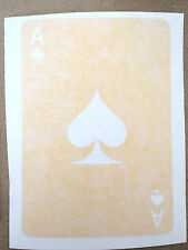 Ace of Spades card Die Cut Decal Window Sticker Vehicle High Quality Oracal 2311