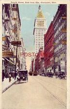 FOURTH STREET EAST FROM ELM, CINCINNATI, OHIO vintage autos