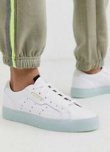 Adidas Sleek Womens Leather Sneaker Us 8 *gorgeous