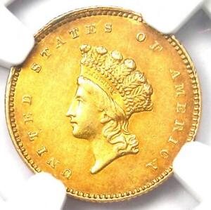 1854 Type 2 Indian Gold Dollar (G$1 Coin) - NGC AU Detail - Rare Type Two!