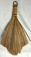 Vintage Handmade Primitive Straw Hearth Broom USA Hay Fan Brush