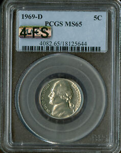 1969-D JEFFERSON NICKEL PCGS MAC MS65 4-FS RARE GC WOULD LIST FOR $30,000 IN FS.