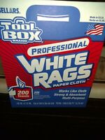 White Painters Towels SELLARS ToolBox 200 Sheets Multi-Purpose Rags in a Box