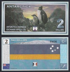 Antarctica 2 dollars 1999 (Banconota di Fantasia) FDS/UNC B-10