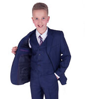 Boys Suits 5 Piece Boys Blue Wedding Suit Page Boy Suit Party Prom 2-15 Years