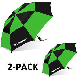 "Dunlop 56"" 2-PACK Double Canopy Folding 2-Person Umbrella EC"