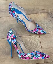 Paul Andrew for J.Crew Blue Floral Printed Pumps Size 6.5  E1328  $425