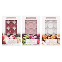 15 x Luxury Christmas Scented Tea Lights Candles Gingerbread Cranberry Cinnamon