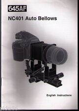 MAMIYA 645 AF / AFD AUTO BELLOWS INSTRUCTION (ORIGINAL PRINT JAPAN/not copies)