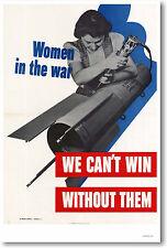 MEN WORKING TOGETHER VINTAGE WWII PROPAGANDA POSTER ART PRINT 27x36 9 MIL PAPER