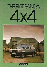 FIAT PANDA 4x4 1984-85 UK Opuscolo Vendite sul Mercato PIEGA