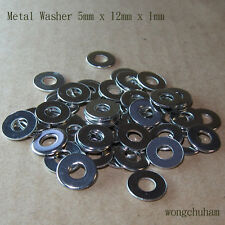 5mm x 12mm x 1mm Metal Washer - 50 Pcs