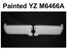 PAINTED WHITE REAR BUMPER END SET FOR 2009-2014 FORD F150 STYLESIDE W/O HOLE