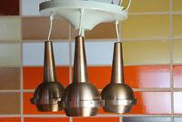 70er Vintage Kupfer Deckenleuchte Kaskadenlampe Pendel Lampe Deckenleuchte 60er
