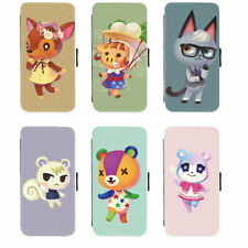 Apple iPhone PU Leather Wallet Flip Stand Case Cover of Animal Crossing Villages