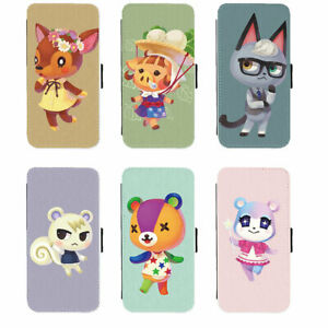 Samsung Galaxy PU Leather Wallet Flip Case of Animal Crossing Villages