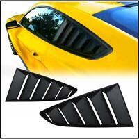 Fits 2015-2020 Ford Mustang Rear Window Scoop Quarter Vent Louver Covers BLACK