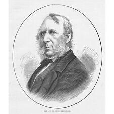 George Cruikshank British Caricaturist - Antique Print 1878