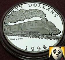 1996 Isole Marshall $50 DOLLARI Locomotiva a vapore Mallard Argento Proof Coin
