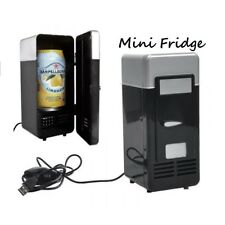 Portable USB Powered Mini Refrigerator Car Cooling Beverage Drink Cooler Heater