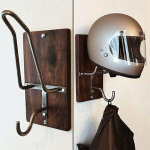Wall-mounted Motorcycle Helmet Rack&Jacket Hook Display Rack Hanger Storage Rack