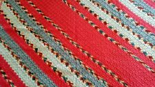 Retro Country Stripes - Diagonal Stripe Chrochet Afghan