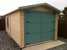 6 by 3 meters log garage,we can make any size, felt roof shingles included.