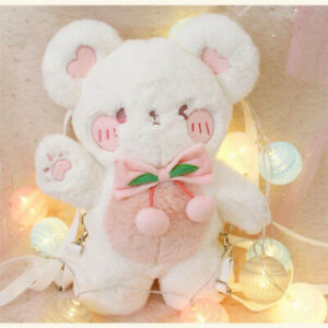 Cute Plush Bear Doll Backpack Lolita Crossbody Messenger Shoulder Bag JK Cos Bag