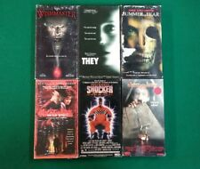 Wes Craven's Movies They Shocker Wishmaster  Slasher Horror Thriller VHS Movies