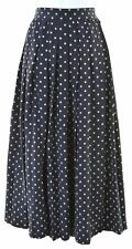 MAX MARA Womens Maxi Skirt UK 12 W26 L30 Navy Blue Polka Dot  B110