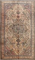 Vintage Anatolian Floral Turkish Area Rug Hand-knotted Living Room Carpet 7'x10'