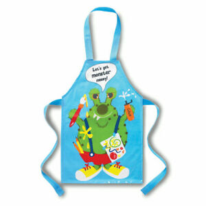 Kids Childrens Monster Apron Childrens Cooking Baking Painting Messy Play Aprons