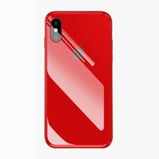 FUNDA PARA IPHONE X XR XS MAX 8 7 6S PLUS CASO PLATEADO TEMPLADO VIDRIO CON LOGO