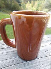 DCC Vintage Restaurant Diner Heavy Ceramic Mug Cup Walnut Brown Coffee USA