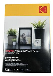"50 Sheets - Kodak Premium Photo - Glossy Paper - A6 - 6"" x 4"" - 240gsm | New"
