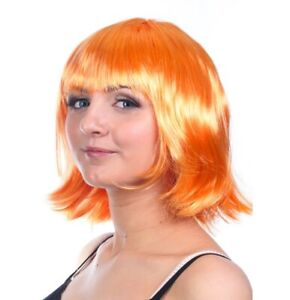 ORANGE GINGER Short Straight Bob Wig Glamour Fancy Dress Party Cosplay 1920s