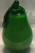 Murano Style Green Pear Glass Fruit